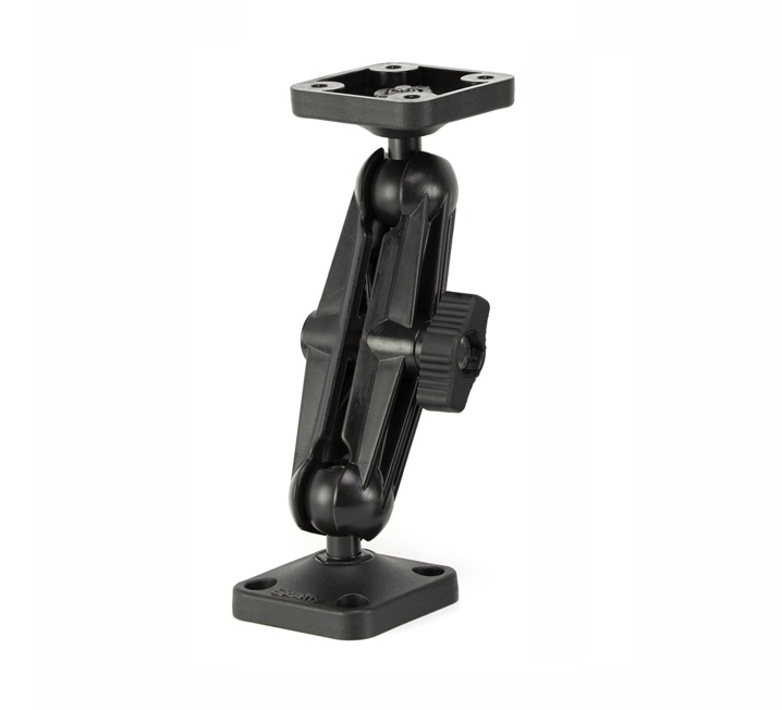 Scotty 3 inch Stick On Mount with Gear Head 448 for SUP Flush Boat Surface