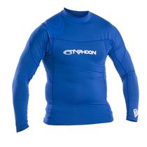Typhoon Mens Long Sleeve Rash Vest Blue